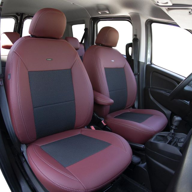 The Leather Look collection is ideal for drivers who want to immediately increase the interior comfort of their vehicle and do not want to spend much time cleaning the upholstery. #MADcarseatcover  #individualautodesign  #fiat #doblo #fiatfans #fiatfamily #fiatdoblo #carseatcover #autositzbezüge #üléshuzat #wecreatedesign #carinterior