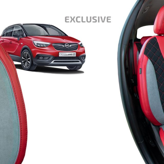 The products from the Exclusive collection are an ideal choice for drivers looking for luxury materials and the need to distinguish their own style.  #individualautodesign #opel #crosslandx #opelfamily #opellove #opelcrosslandx #opellovers #opelmotorsport #opelfans #carseatcover #autositzbezüge #üléshuzat #wecreatedesign #carinterior